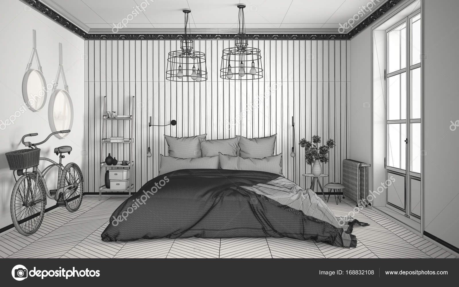 Unvollendete Projekt der skandinavischen minimalistisches ...