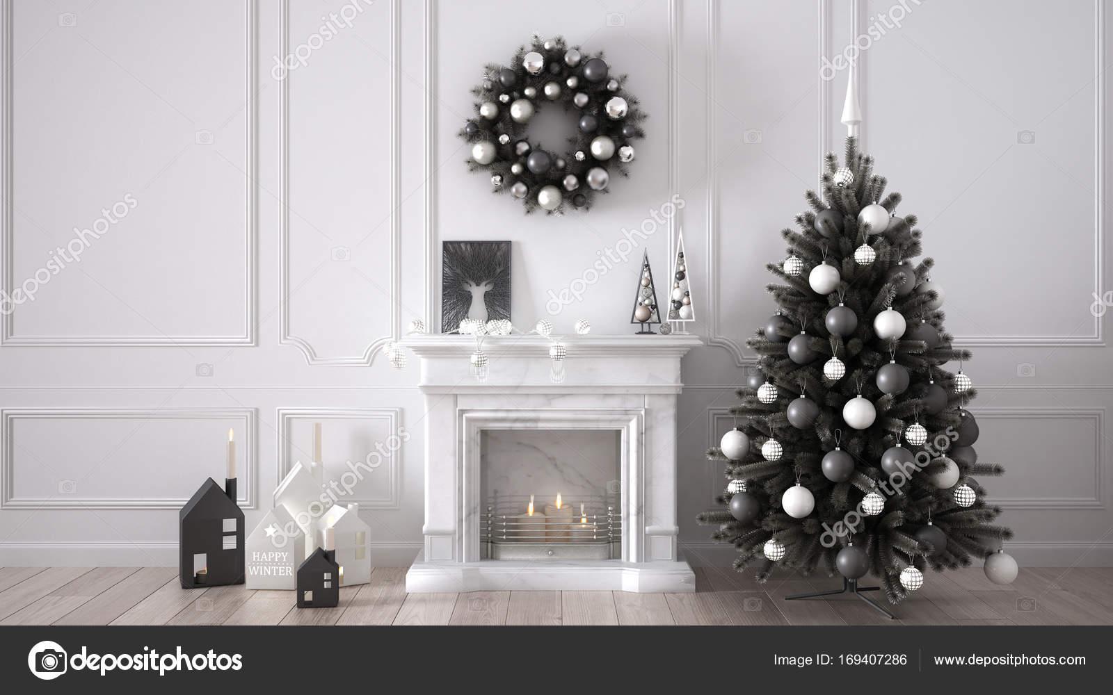 Klassische Wohnzimmer klassische wohnzimmer mit kamin weihnachtsbaum und dekore w