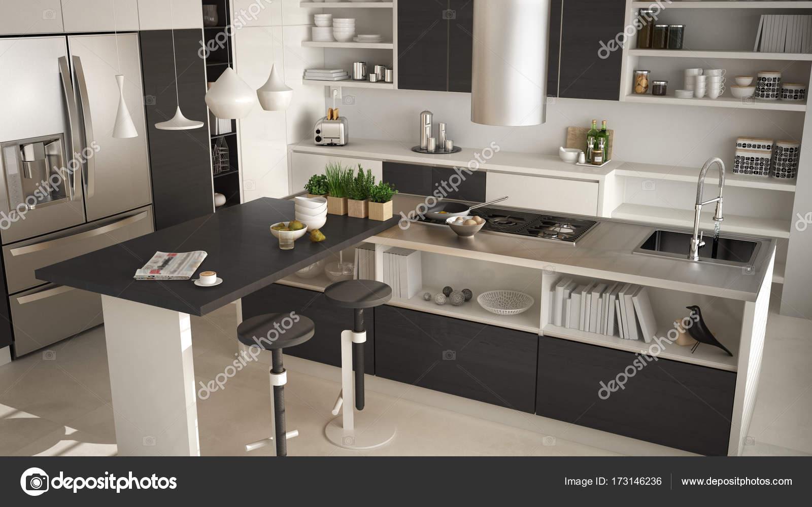 Cucina moderna in legno con particolari in legno primi piani isola