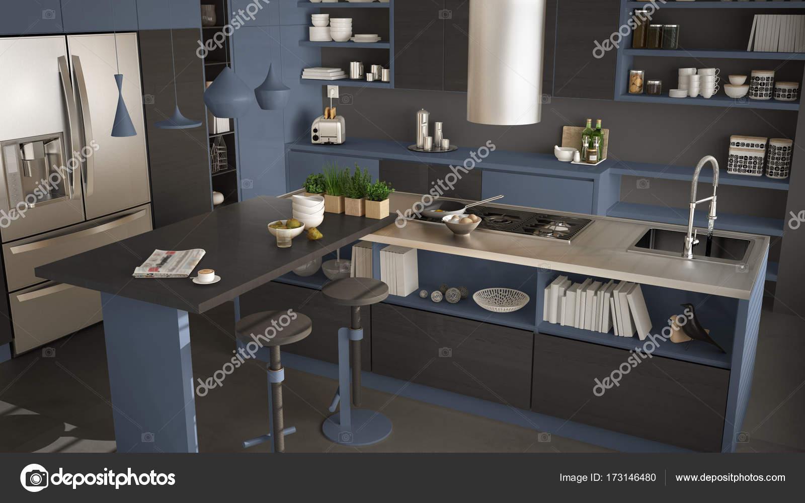 Moderna Cozinha De Madeira Com Detalhes Em Madeira Close Up Ilha