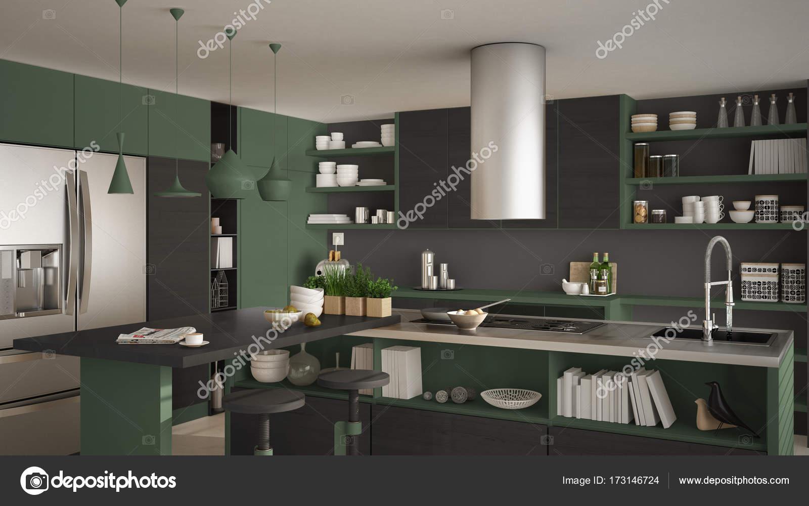 Cucina moderna in legno con particolari in legno primi piani