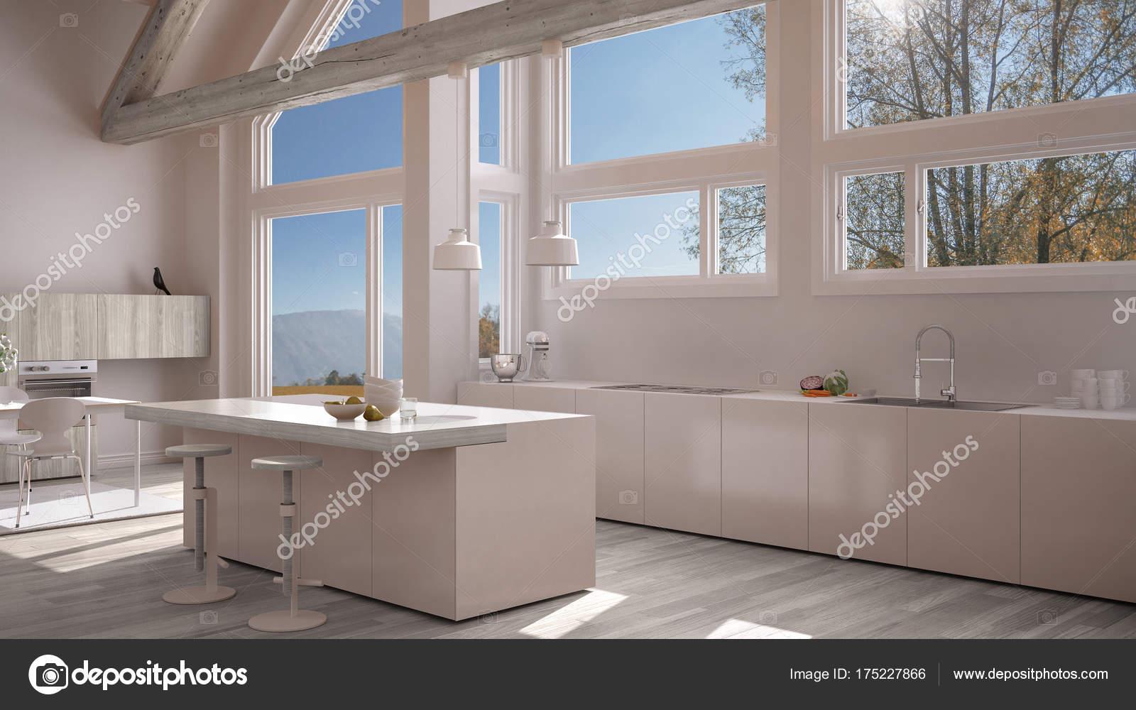 Cozinha Moderna Em Villa Cl Ssica Loft Grandes Janelas Panor Micas