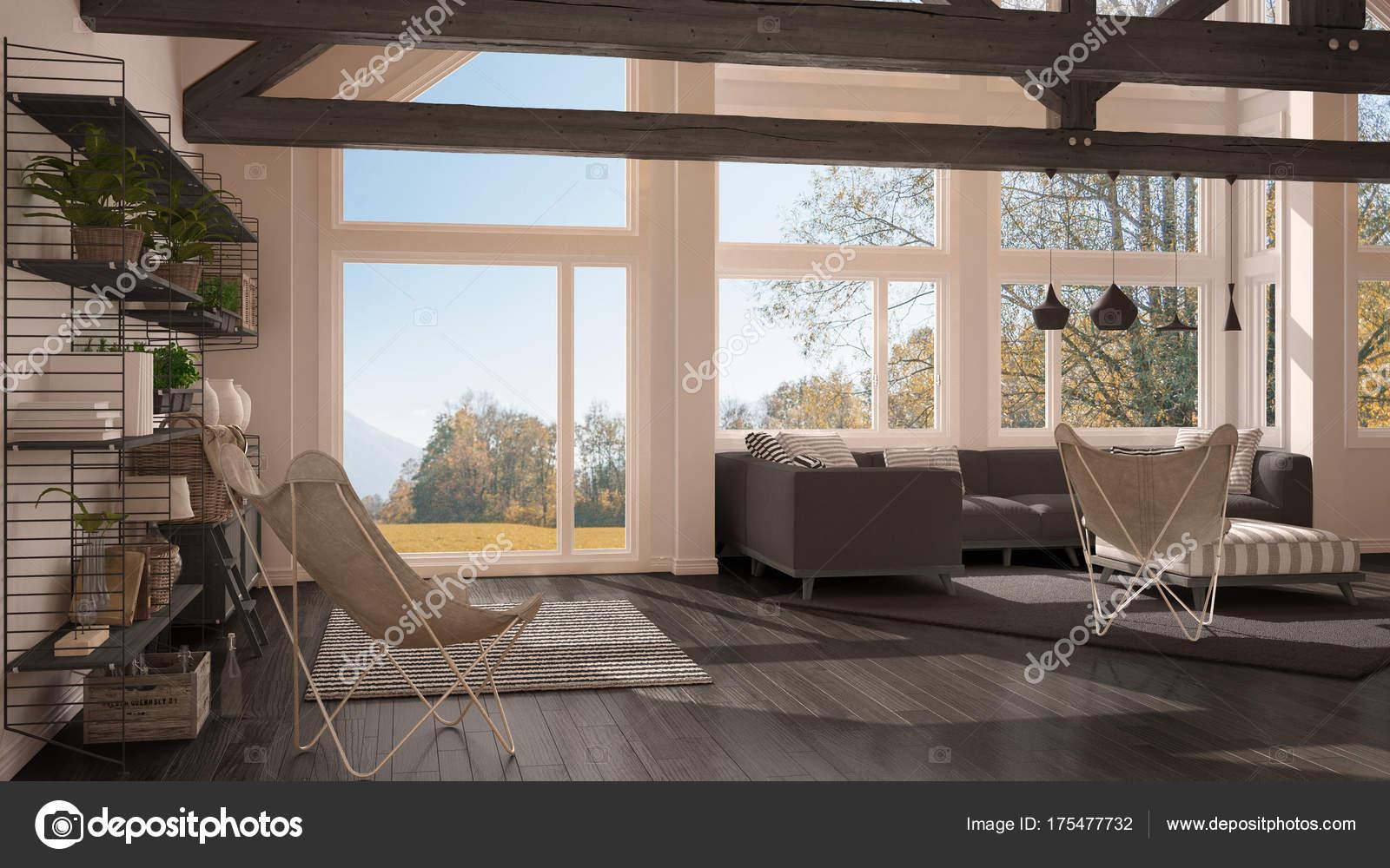 Salotto Con Parquet Camino E Mobili In Legno Interior Design : Arredamento soggiorno moderno di lusso good