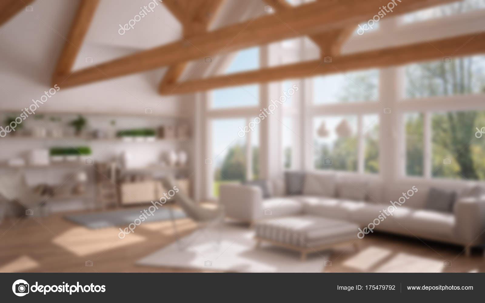 Unschärfe Hintergrund Innenarchitektur, Wohnzimmer Luxus-Öko-Haus ...