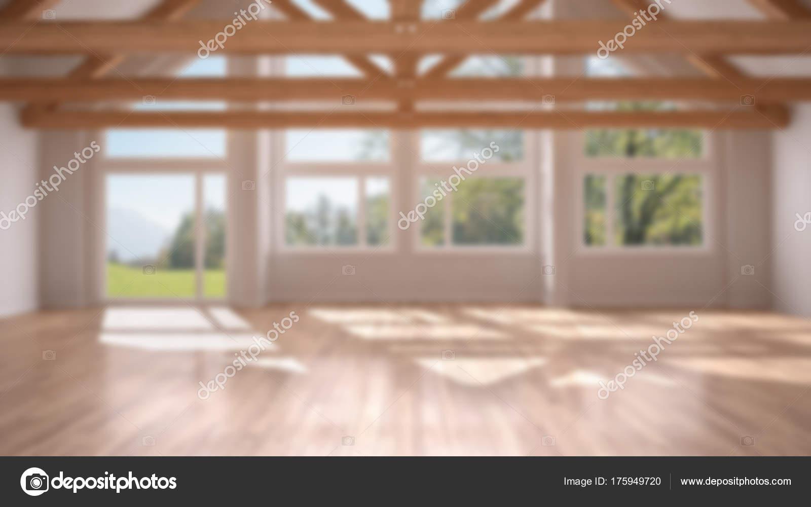 Blur Background Interior Design Empty Room Luxury Eco House Parquet Stock Photo C Archiviz 175949720