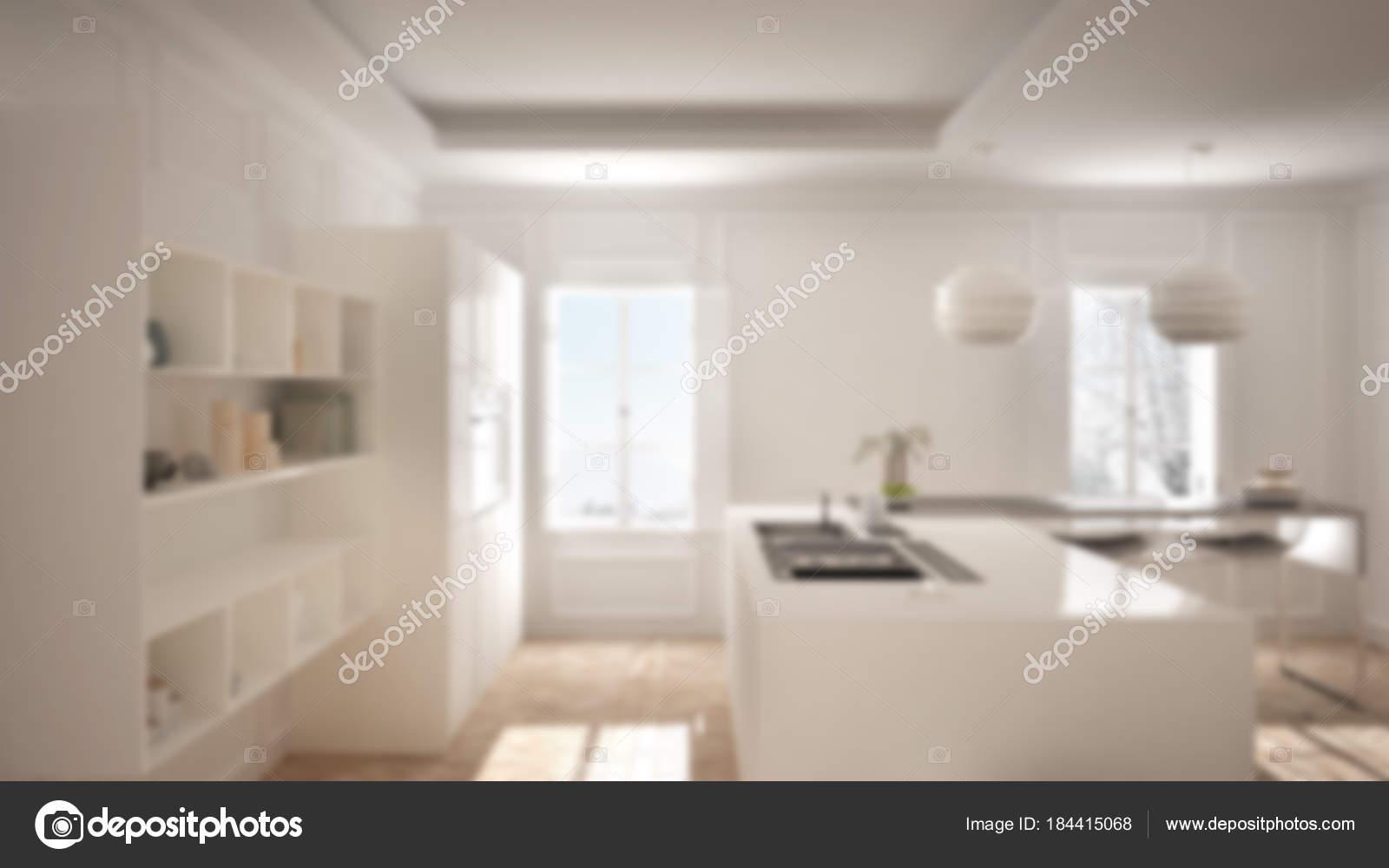 Desenfoque de fondo diseño de interiores, muebles de cocina ...