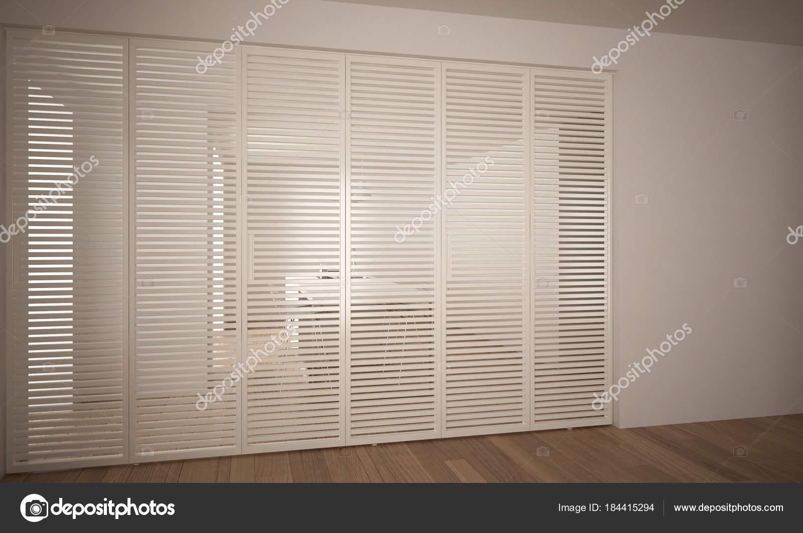 Modern Sliding Door With Kitchen In The Background White Minimal
