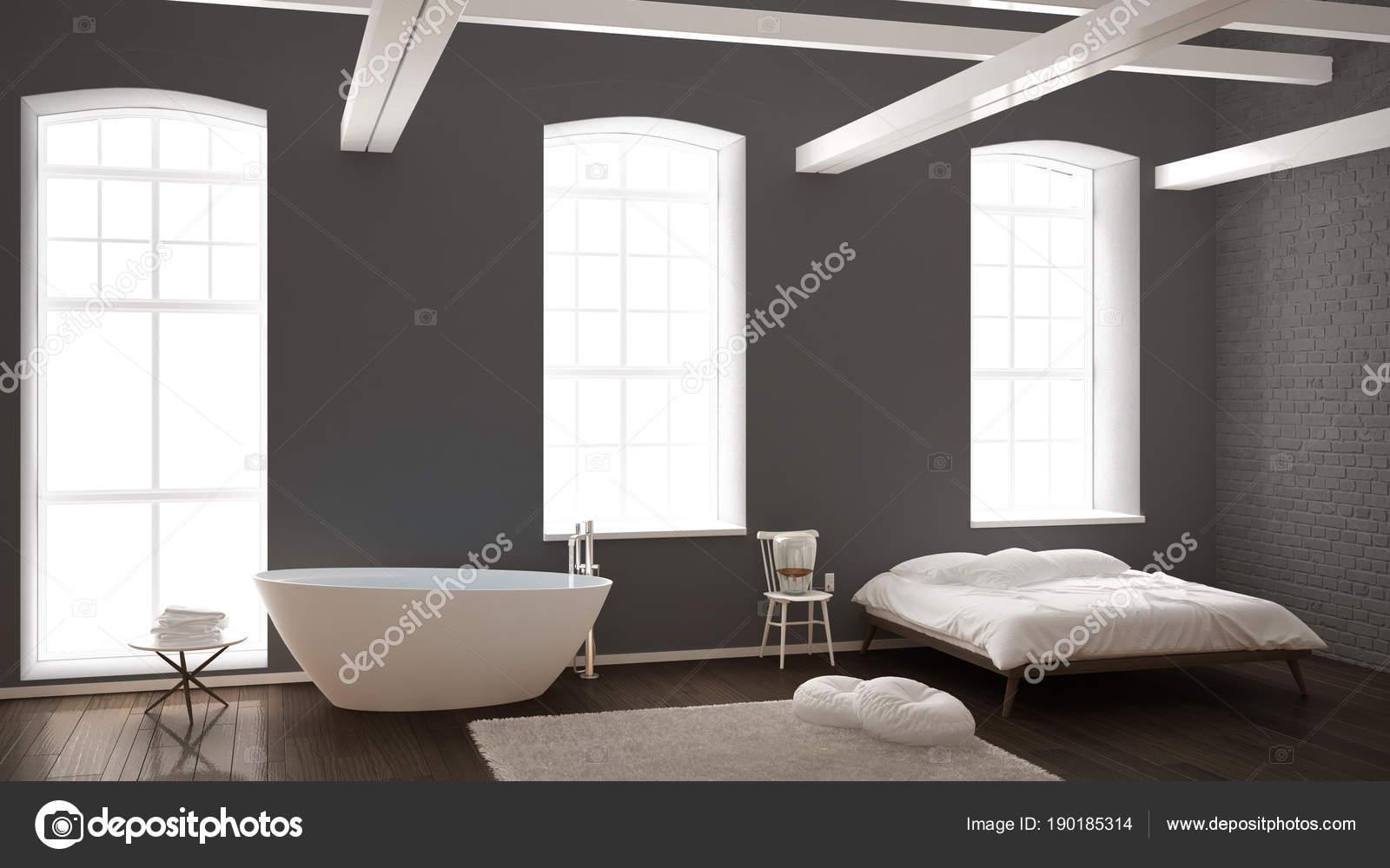 Vasca Da Bagno Classica Prezzi : Camera da letto moderna industriale classico con grandi finestre