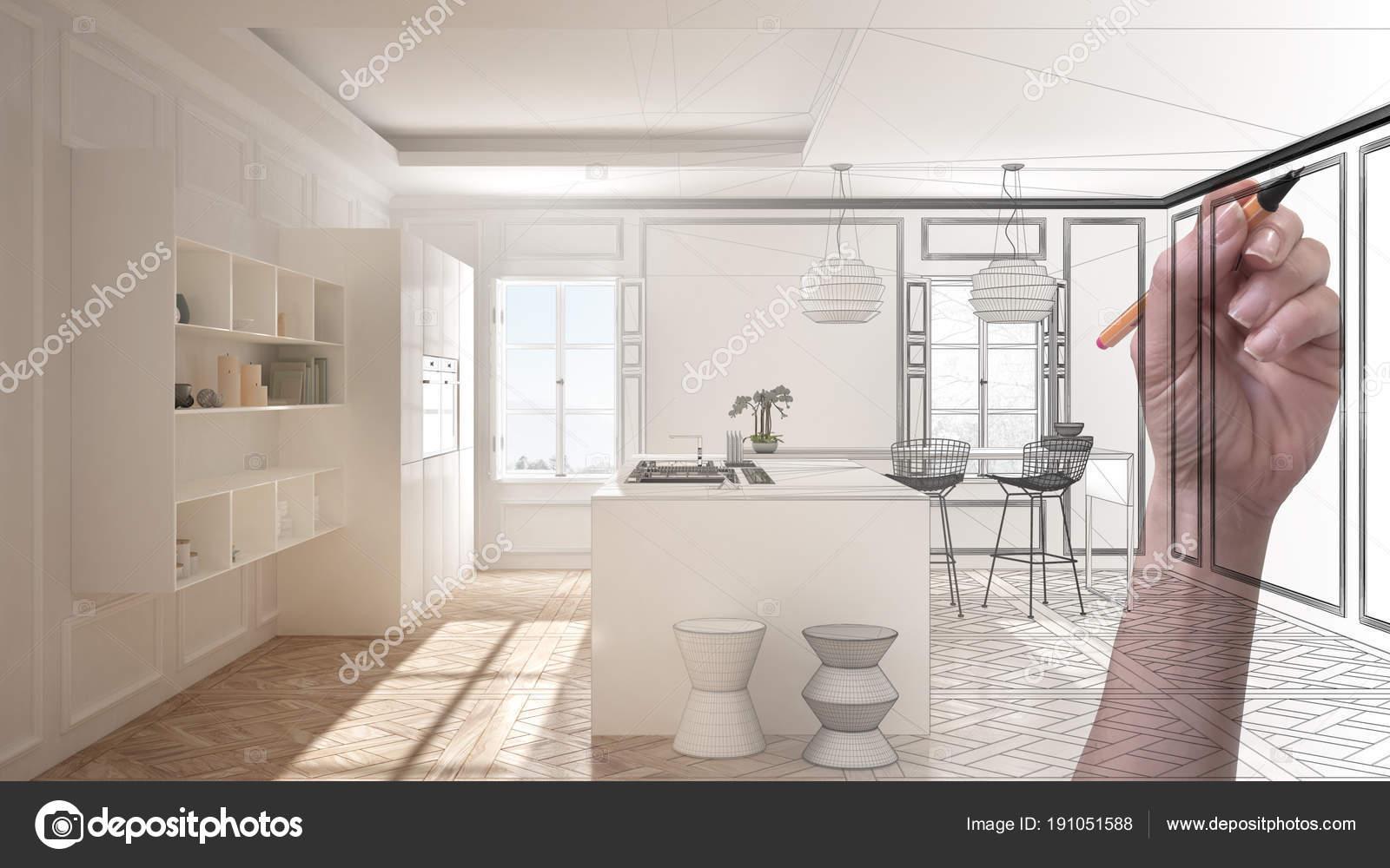 M O Branca Minimalista Moderno Da Cozinha Personalizada De Desenho