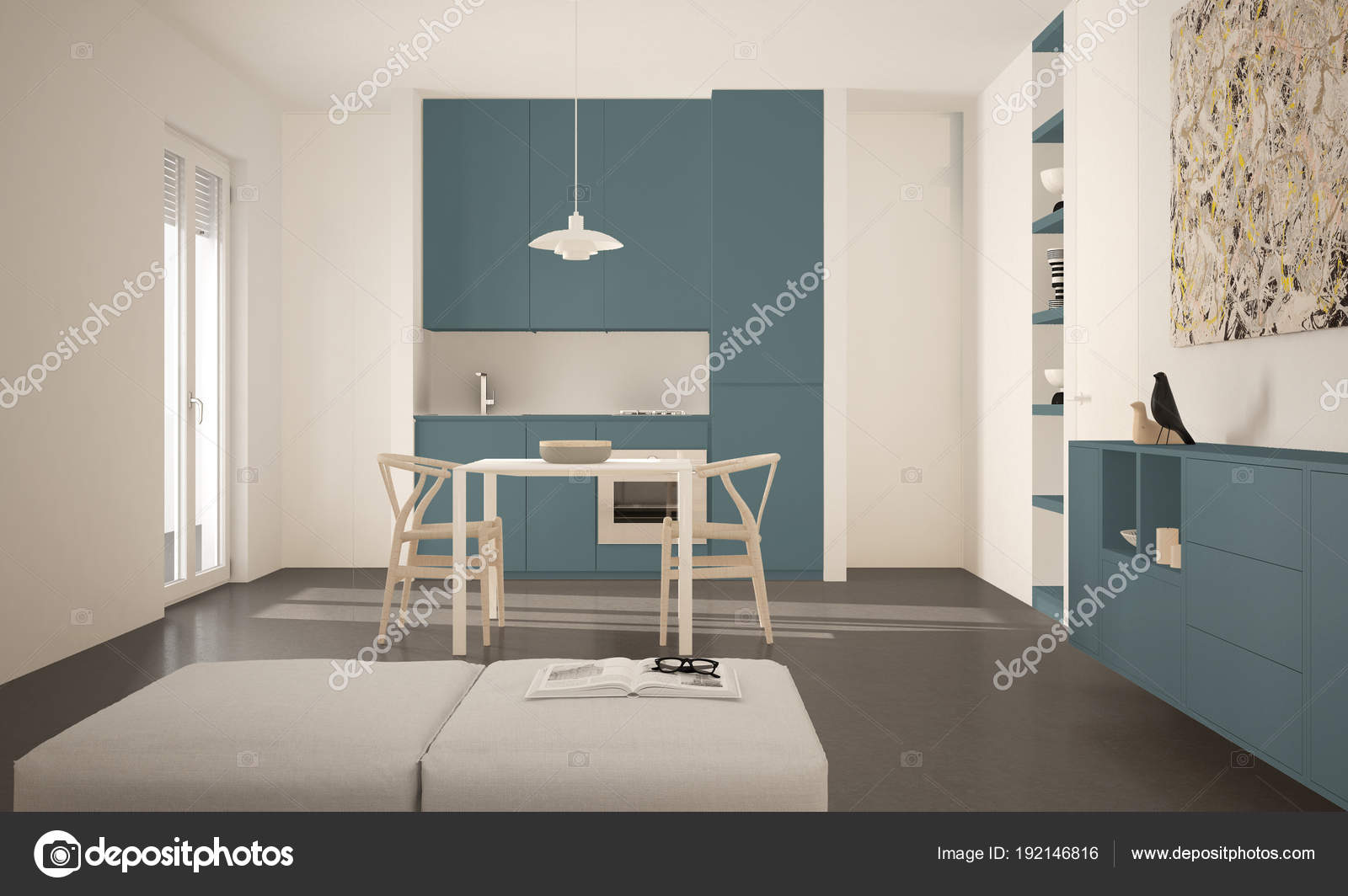 Diseños modernos de ventanas | Cocina luminosa moderno minimalista ...