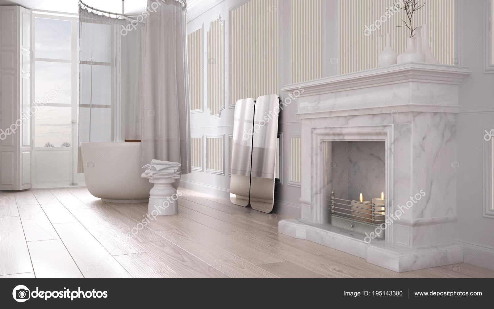 Salle de bain vintage dans un espace classique avec ancienne ...
