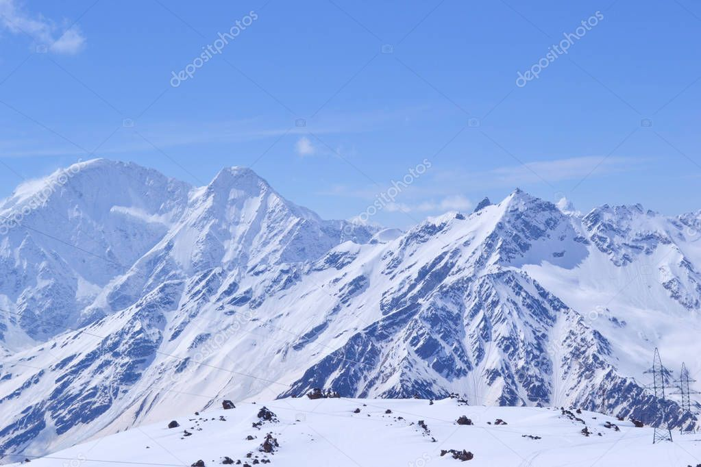 Beautiful mountain landscapes in winter