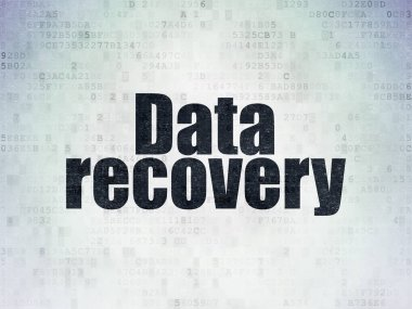 Data concept: Data Recovery on Digital Data Paper background