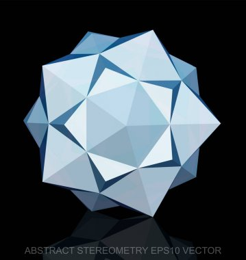 Abstract stereometry: low poly White Dodecahedron. EPS 10, vector.