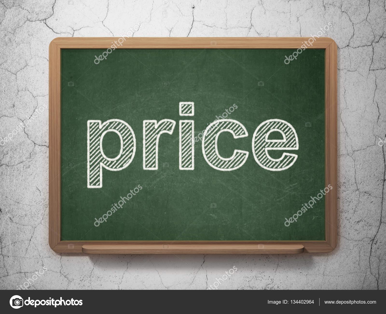 Parete Di Lavagna Prezzo : Concetto di vendita prezzo su priorità bassa della lavagna u foto