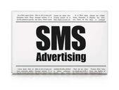 Reklamní koncepce: novinový titulek reklamní Sms