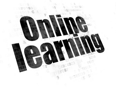 Learning concept: Online Learning on Digital background