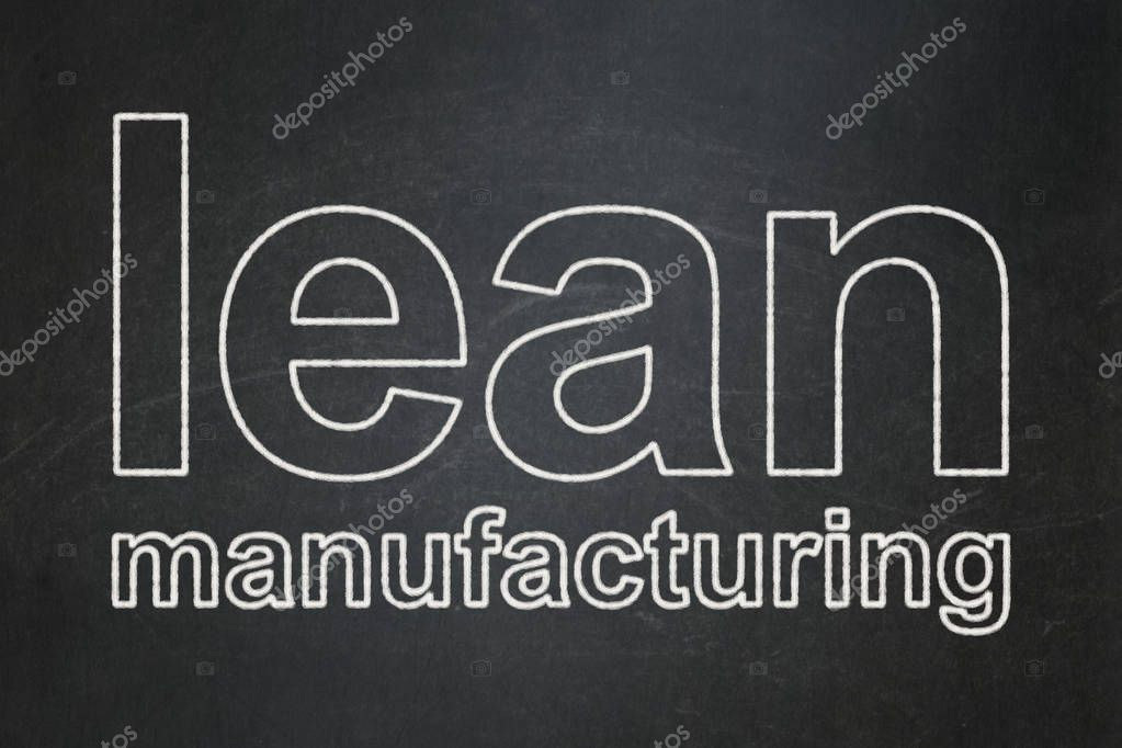 Industry concept: Lean Manufacturing on chalkboard background