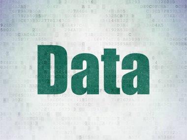 Data concept: Data on Digital Data Paper background