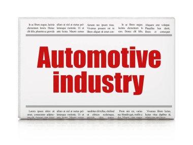 Industry concept: newspaper headline Automotive Industry