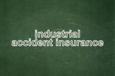 Insurance concept: Industrial Accident Insurance on chalkboard background
