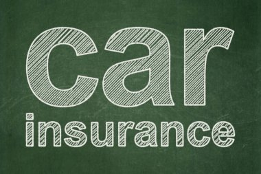 Insurance concept: Car Insurance on chalkboard background