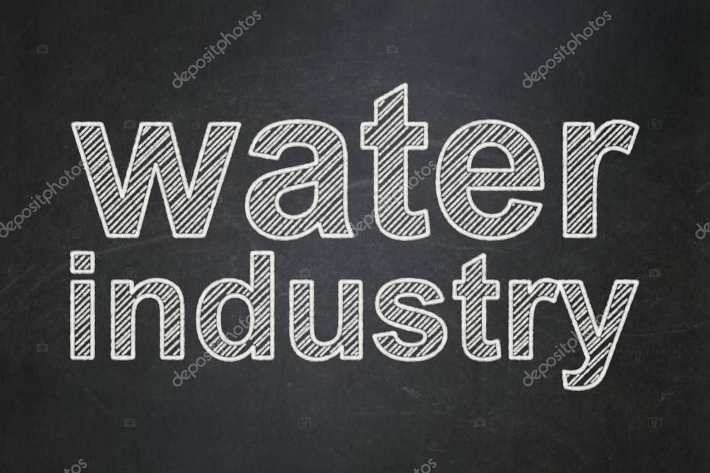Industry concept: Water Industry on chalkboard background