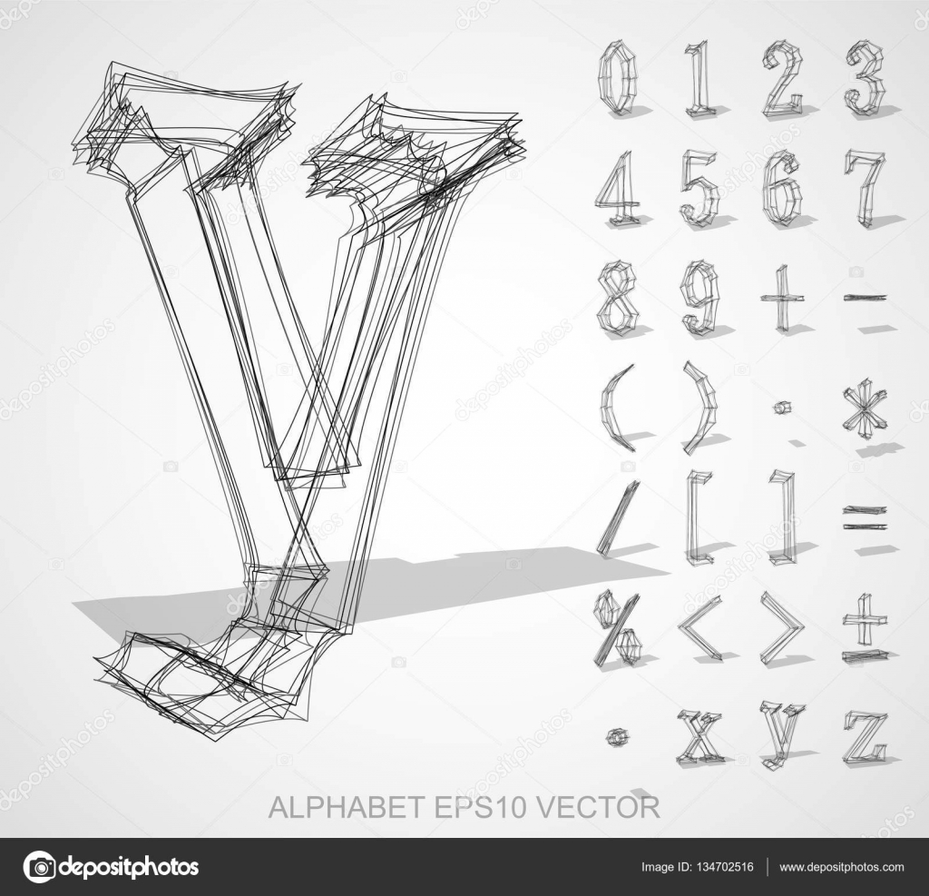 Vector illustration of a sketched numbers and mathematical symbols set of hand drawn 3d numbers and mathematical symbols for your design eps 10 vector illustration vector by maxkabakov buycottarizona Image collections