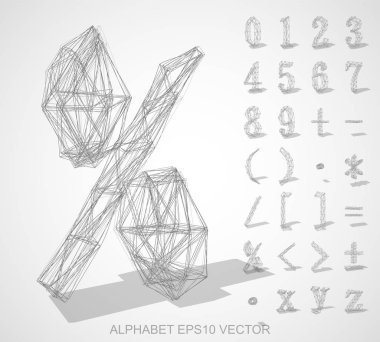 Abstract illustration of a sketched Numbers And Mathematical Symbols with transparent shadow. Set of hand drawn 3D Numbers And Mathematical Symbols for your design. EPS 10 vector illustration clip art vector