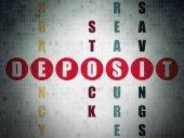 Fotografie Money concept: Deposit in Crossword Puzzle