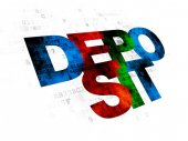 Fotografie Money concept: Deposit on Digital background