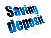 Fotografie Banking concept: Saving Deposit on Digital background