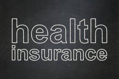 Insurance concept: Health Insurance on chalkboard background