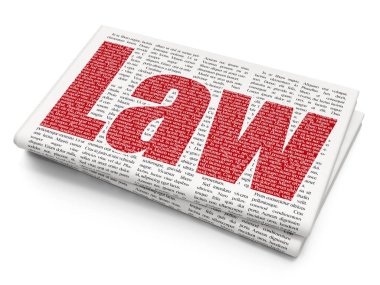 Law concept: Law on Newspaper background