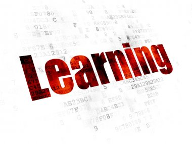 Learning concept: Learning on Digital background