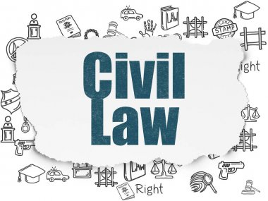Law concept: Civil Law on Torn Paper background