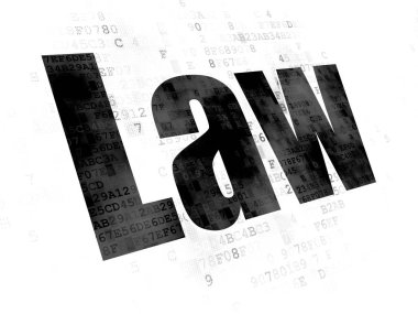 Law concept: Law on Digital background