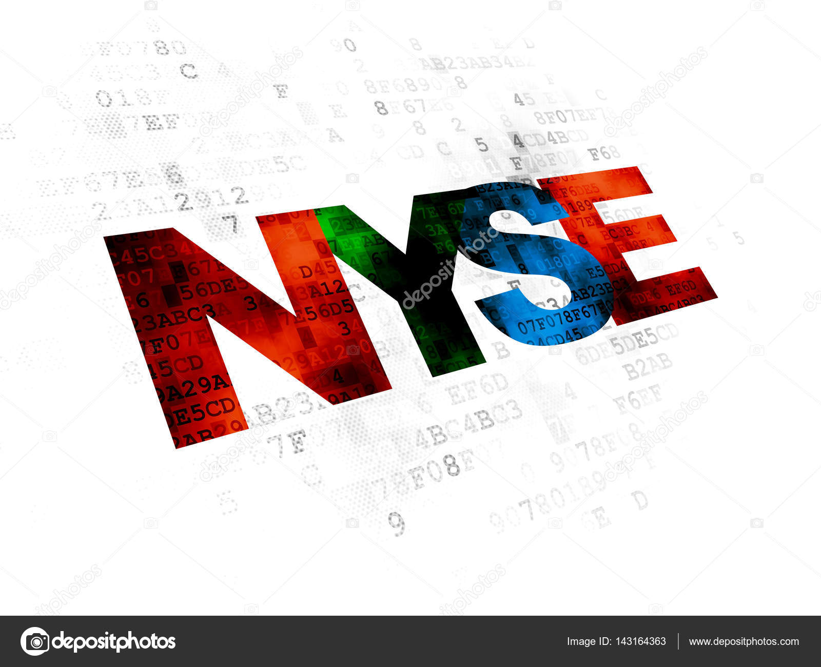 Stock Market Indexes Concept Nyse On Digital Background Stock