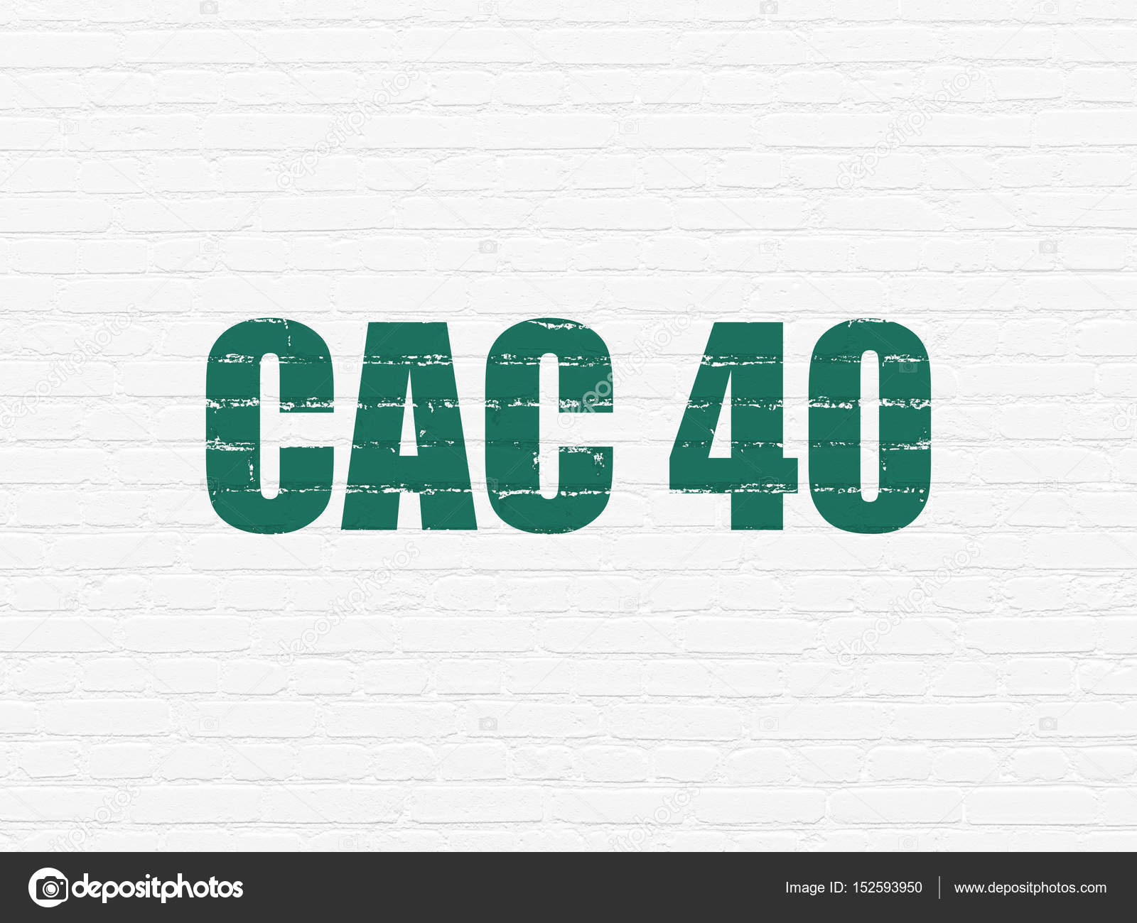 Stock Market Indexes Concept CAC 40 On Wall Background Photo