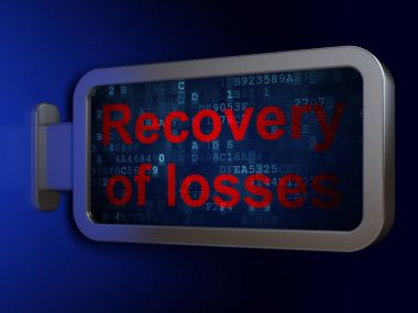 Banking concept: Recovery Of losses on billboard background