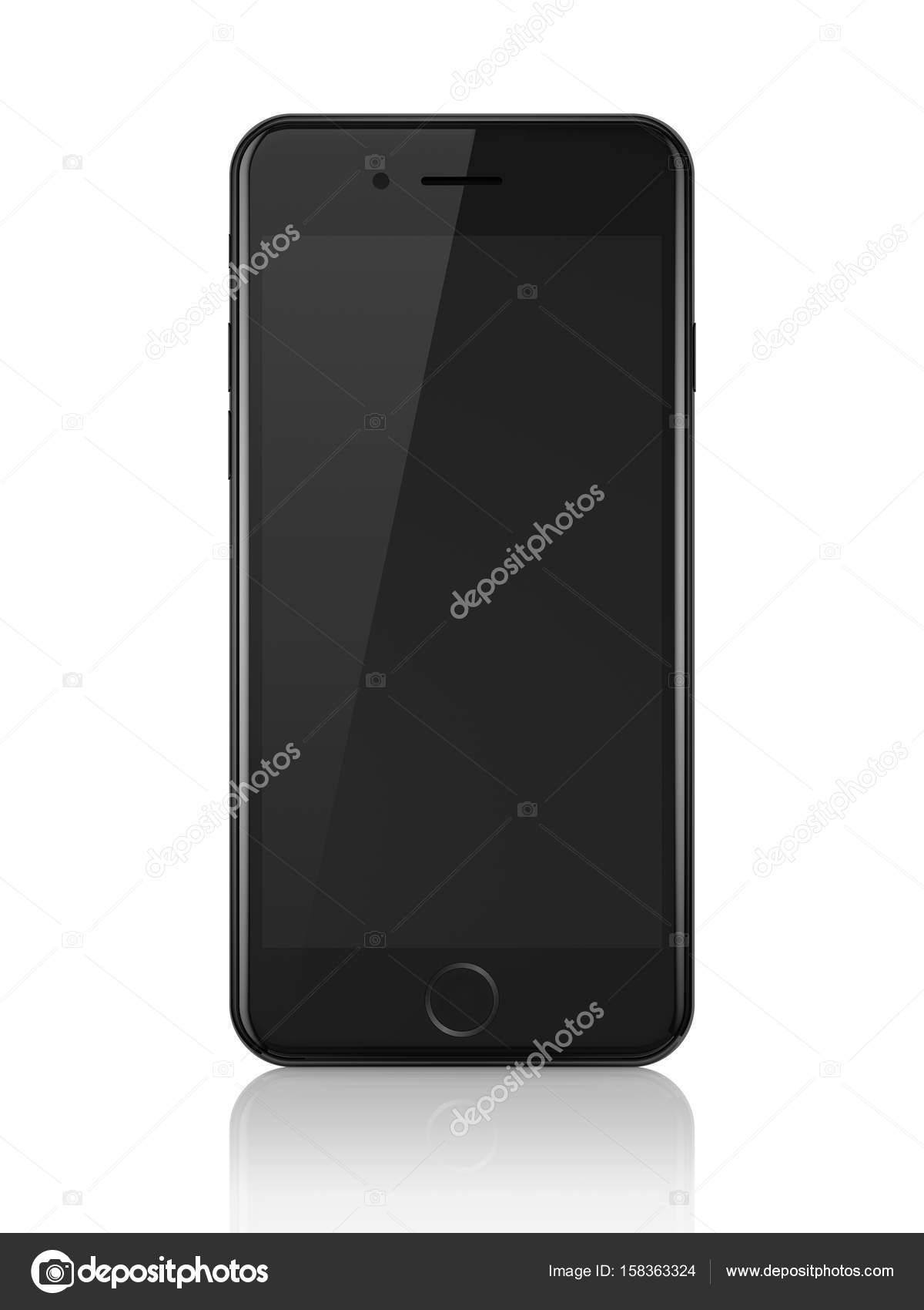 MINSK, BELARUS - JUNE 26, 2017: black iPhone 7 with blank