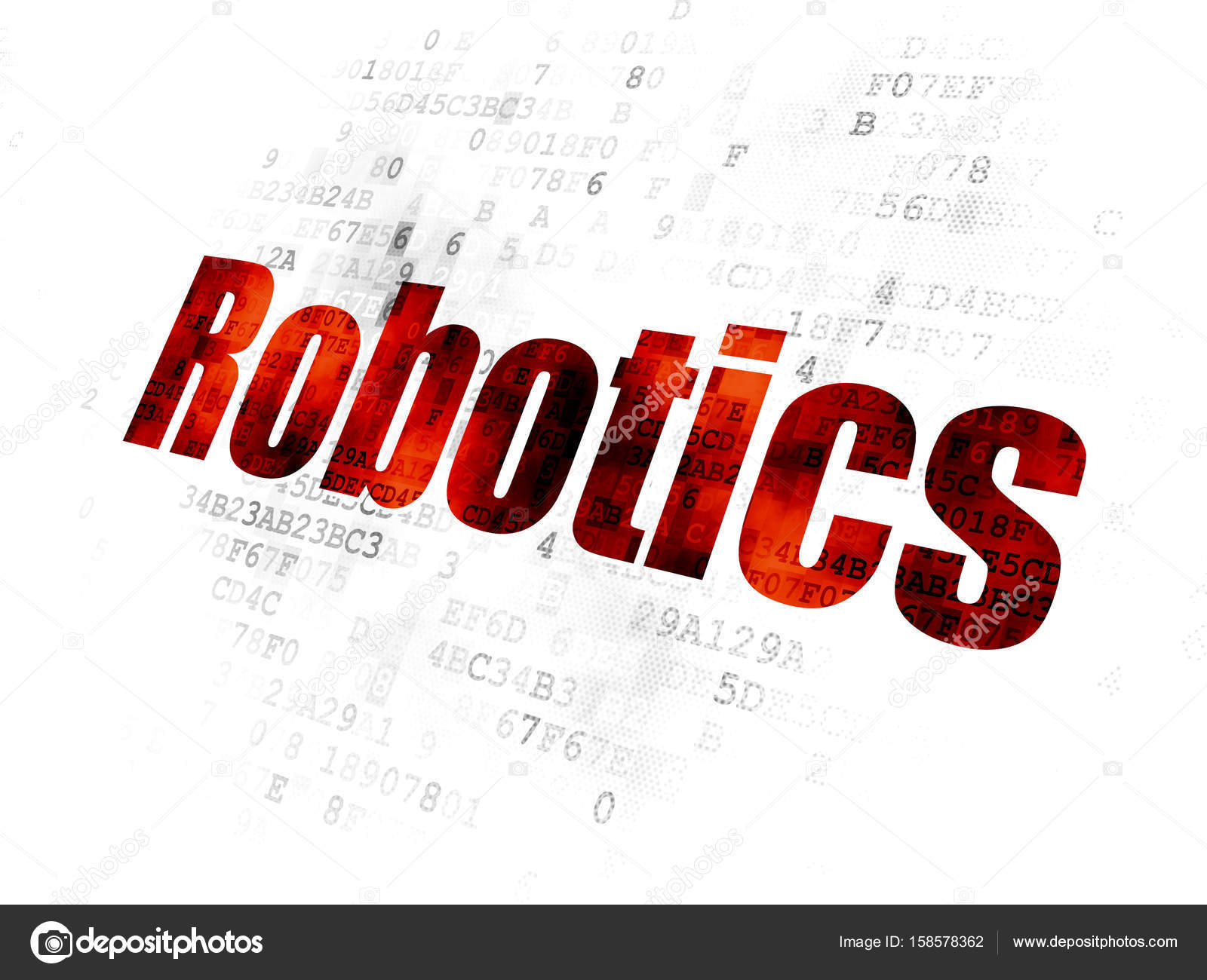 Science Concept Robotics On Digital Background Stock Photo