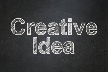 Finance concept: Creative Idea on chalkboard background