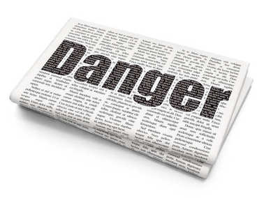 Privacy concept: Danger on Newspaper background