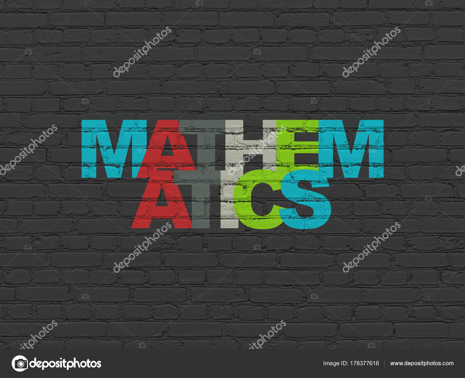 Studying Concept Mathematics On Wall Background Stock Photo
