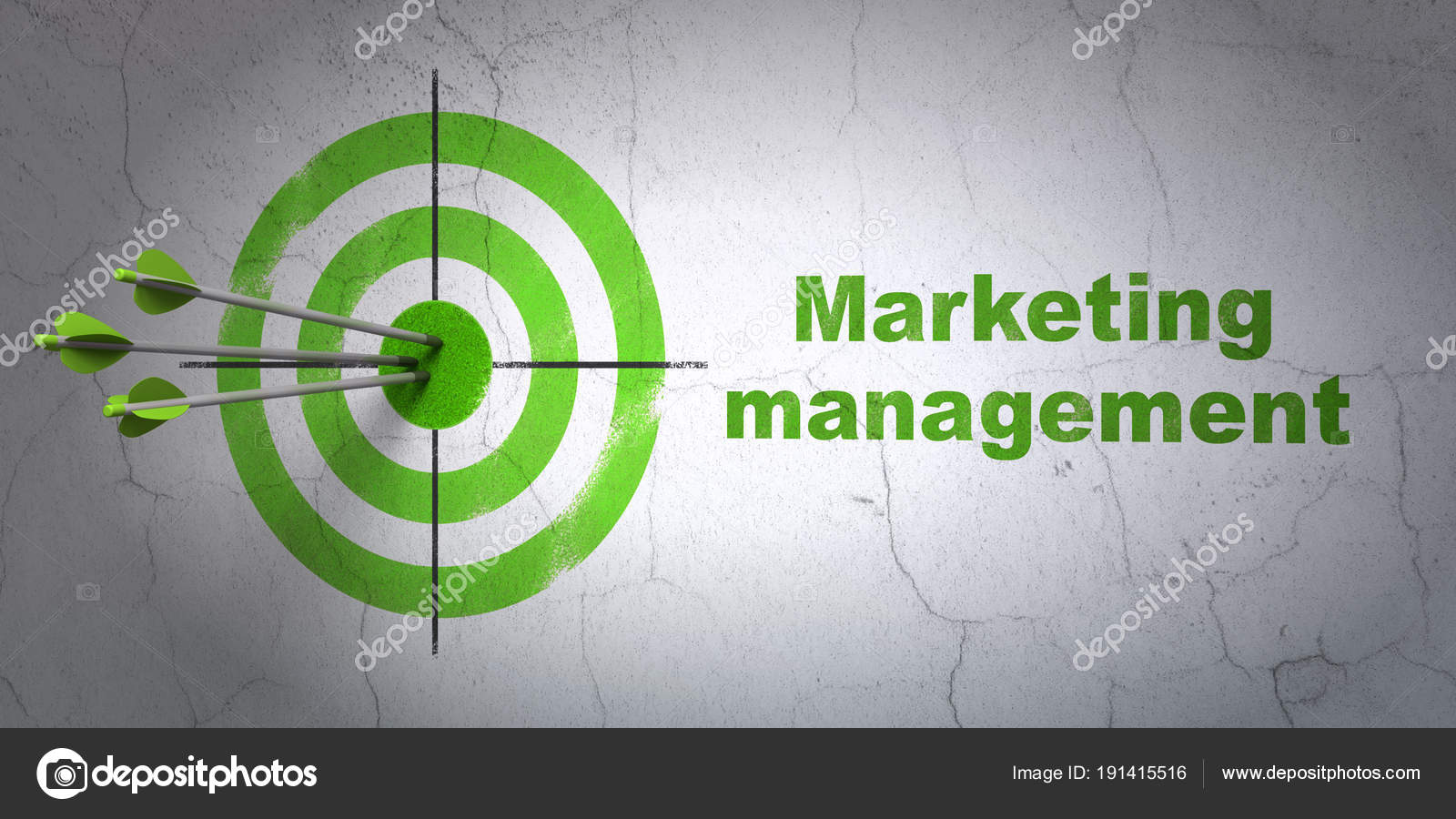 Advertising Concept Target And Marketing Management On Wall