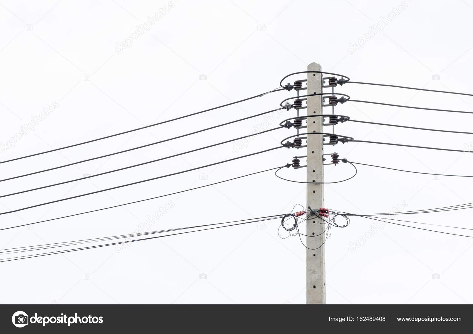 Elektrische Pol an die Hochspannung elektrische Drähte anschließen ...