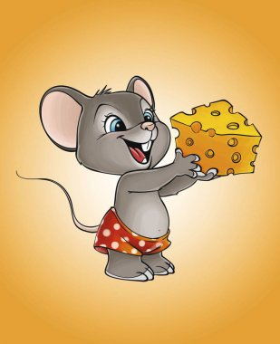 mouse with the cheese