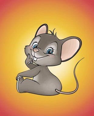 Cute mouse with the nice smile