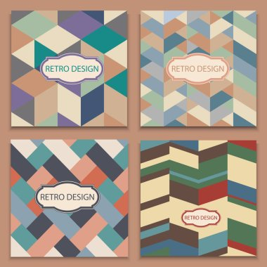 Set of cover brochures in retro style